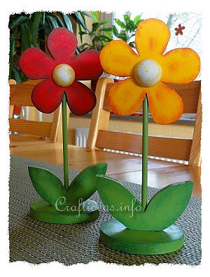 Spring Wood Craft Wooden Flowers