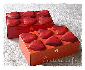 Wood Crafts for Spring - Wooden Boxes with Hearts