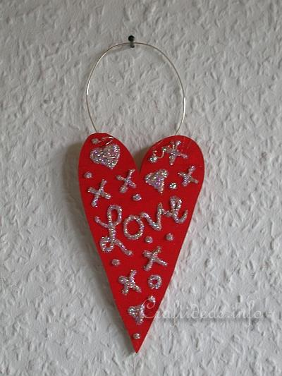Wood Crafts for Valentine's Day - Red Wooden Heart