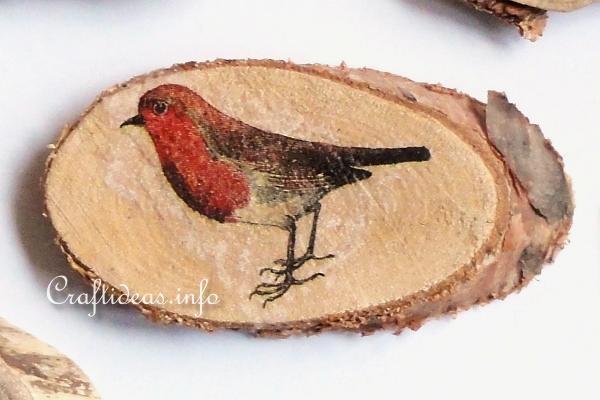 housewarming gift wood slice art fridge magnet cherry tree slab decorative refrigerator magnets set of 4 farmhouse decor
