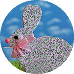 Wood and Scrapbook Paper Easter Bunny 150