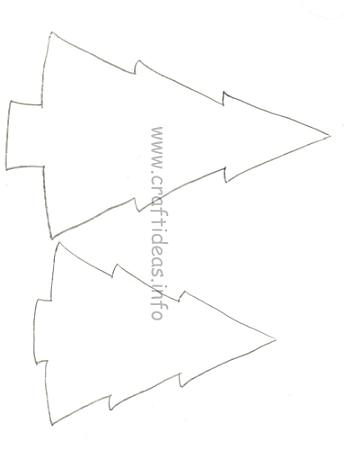 Wooden Christmas Trees Craft Pattern