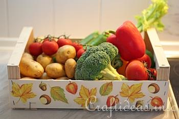 Wooden Fruit Crate - Paper Napkin Applique 3