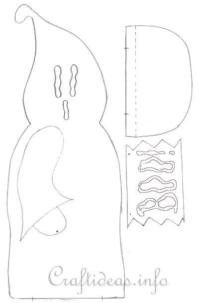 wood craft for halloween free craft template for a ghost