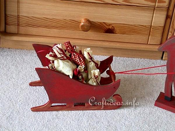 Wooden Moose and Sleigh Advent Calendar 3