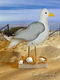 Wooden Seagull