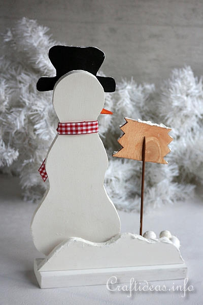 Wooden Snowman - Snowballs for Sale - Back Side