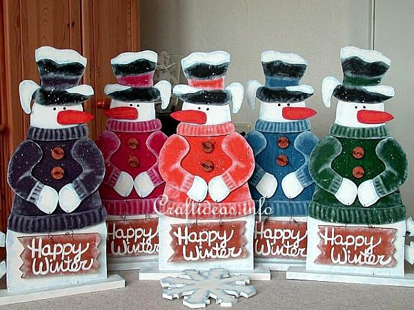 Wooden Snowman - Snowflakes for Sale - Group