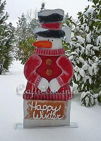 Wooden Snowman - Snowflakes for Sale