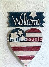 Craft Tutorial For Wooden Patriotic Welcome Sign 1