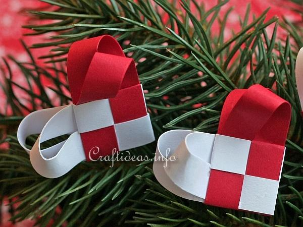 Woven Paper Christmas Hearts 1