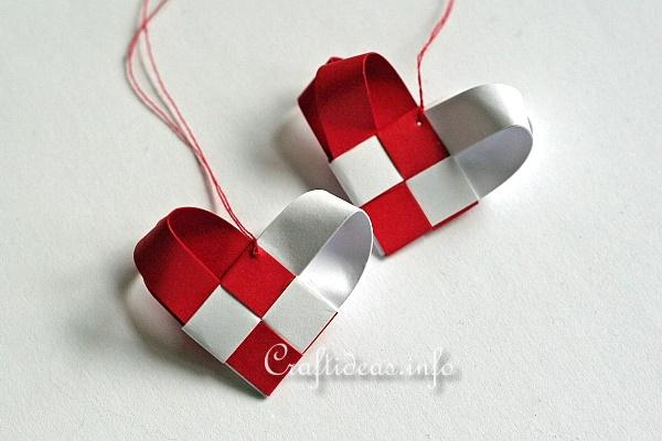 Woven Paper Christmas Hearts 2