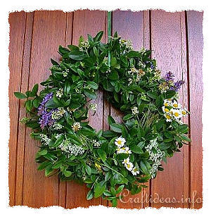 Wreath Making - Summer Wreath for the Door