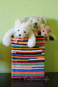 Yarn Bombing - Upcycled Box - Toybox