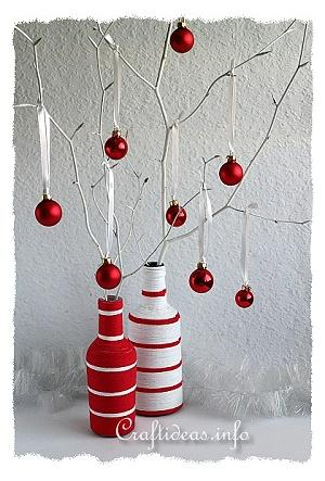Yarn Wrapped Christmas Vases