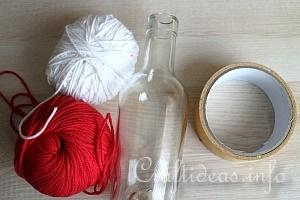 Yarn Wrapped Vase Tutorial 1