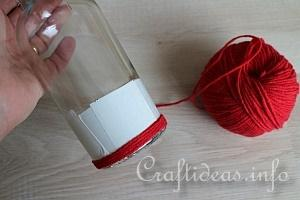 Yarn Wrapped Vase Tutorial 4