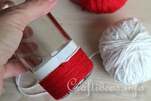 Yarn Wrapped Vase Tutorial 5