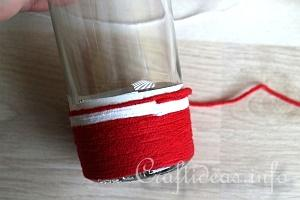 Yarn Wrapped Vase Tutorial 6