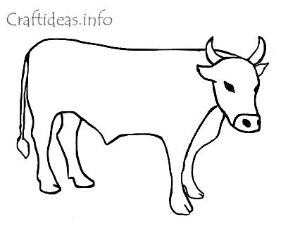 chinese new year coloring book page of an ox