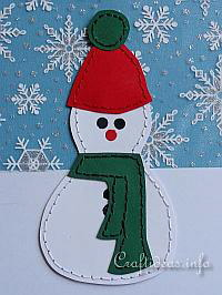 Christmas Paper Craft For Kids - Stitched Snowman