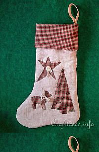 Patchwork and Sewing Craft for Christmas - Country Stocking