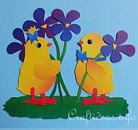 Spring Chicks Paper Piecing Window Decoration
