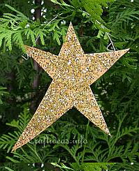 Winter and Christmas Wood Craft - Glitter Star Ornament