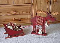 Wooden Moose and Sleight Advent Calendar
